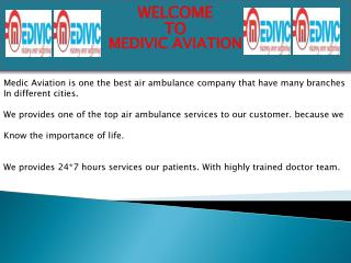 Low Cost Air Ambulance Services in Nagpur by Medivic Aviation
