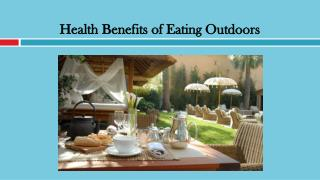 Health Benefits of Eating Outdoors