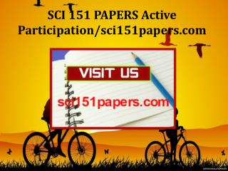 SCI 151 PAPERS Active Participation/sci151papers.com