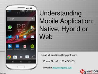 Understanding Mobile Application Native, Hybrid or Web