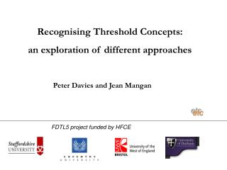 Recognising Threshold Concepts:  an exploration of different approaches