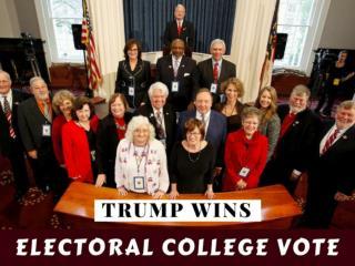 Trump wins Electoral College vote