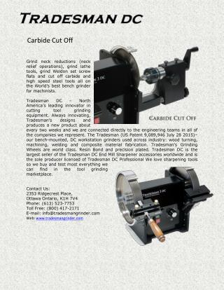 Carbide Cut off