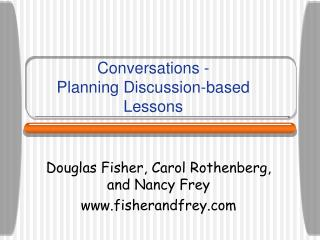 Conversations -  Planning Discussion-based Lessons