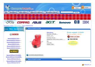Batería MAKITA 6918D, Herramientas a batería MAKITA 6918D