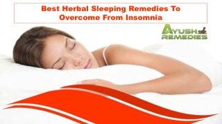 Best Herbal Sleeping Remedies To Overcome From Insomnia