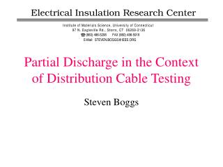 Partial Discharge in the Context of Distribution Cable Testing