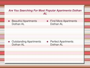 Outstanding Apartments Dothan AL