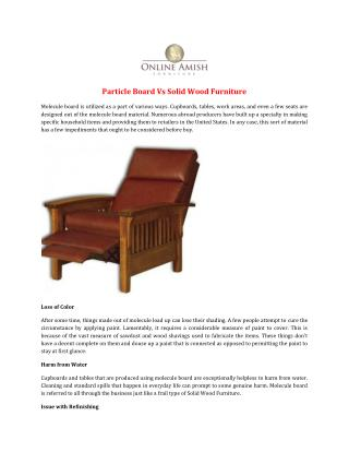 Particle Board Vs Solid Wood Furniture