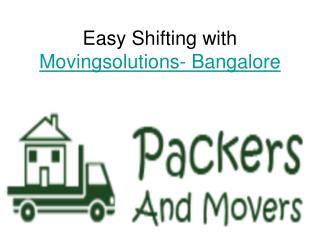 Easy move with movingsolutions-bangalore
