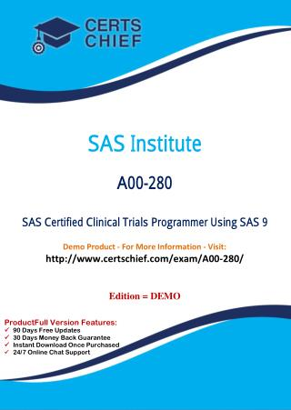 A00-280 Certification Practice Test