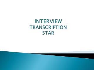 Skype Interview Transcription