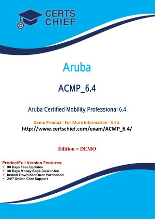 ACMP_6.4 Certification Practice Test