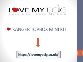 Kanger Topbox Mini Platinum Kit TC-75 UK
