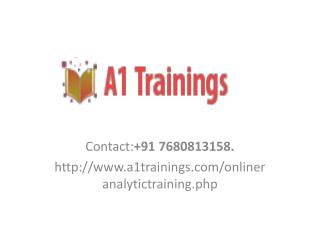 R analytics online trainings-course content