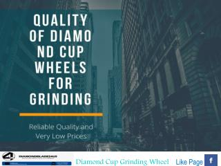 Diamond Segment Cup Wheels for Surface Preparation