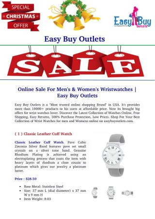 Online Sale For Men's & Women's Wrist Watches | Easy Buy Outlets
