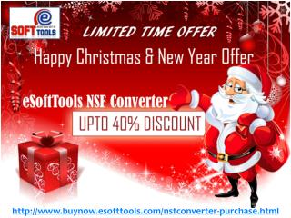 Merry Christmas and Happy New Year OFFER On eSoftTools NSF to PST Converter
