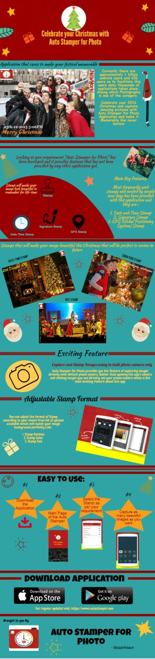Celebrate Christmas and make it memorable with Auto Stamper for Photo