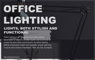 Various Types of Office Lighting Solutions