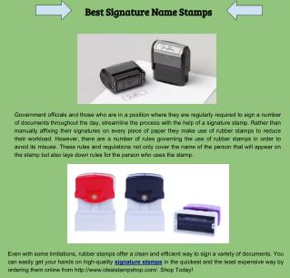 Best Signature Name Stamps