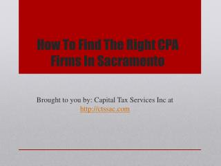 How to find the right cpa firms in sacramento