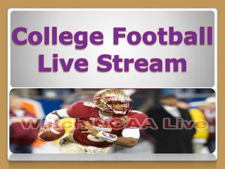 College football live stream