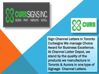 Sign Channel Letters in Toronto - Curbsigns