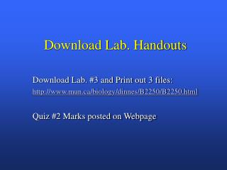 Download Lab. Handouts