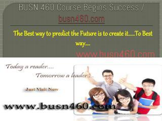 USN 460 Course Begins Success / busn460dotcom