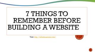 7 things to remember before building a website