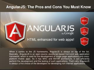 AngularJS: The Pros and Cons You Must Know