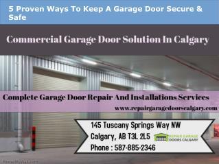 Licensed Garage Door Repair Services In Calgary