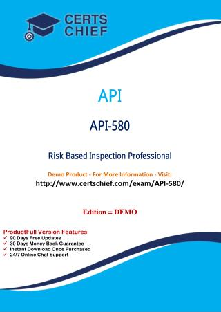 API-580 Exam Questions Answers