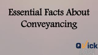 What is Conveyancing