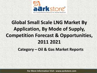 Global Small Scale LNG (SSLNG) Market 2021: Aarkstore