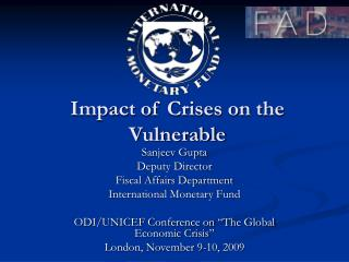 Impact of Crises on the Vulnerable