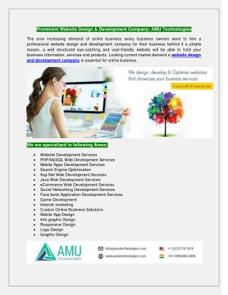 Prominent Website Design & Development Company