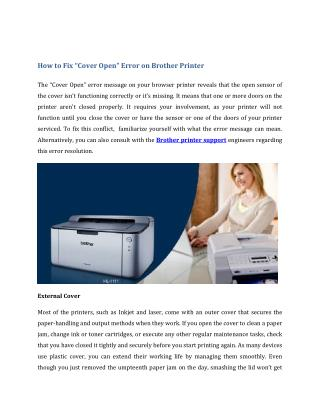 "How to Fix ""Cover Open"" Error on Brother Printer"