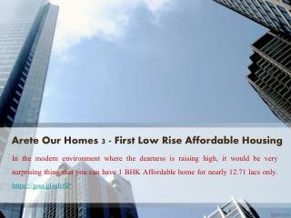 Arete India Projects - Our Homes 3 Sohna @ 9250933111