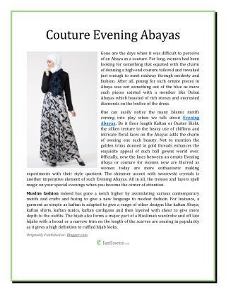 Couture Evening Abayas