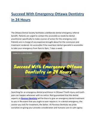 Succeed With Emergency Ottawa Dentistry in 24 Hours