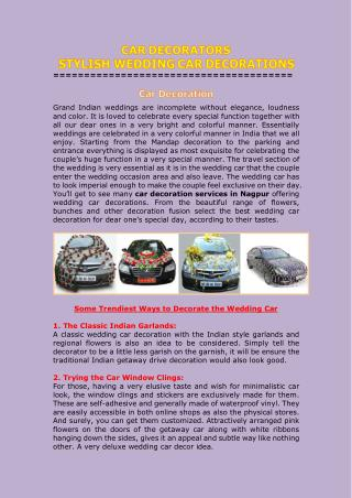 Car decoration services in Nagpur
