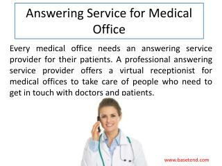 Answering Service for Medical Office - BaseTend
