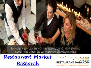 Restaurant Market Research - Restaurant Data
