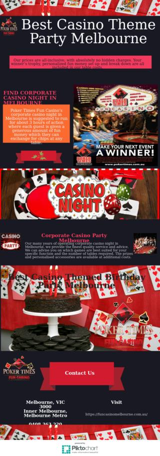 Find Your Next Event with our Casino Party Hire Melbourne