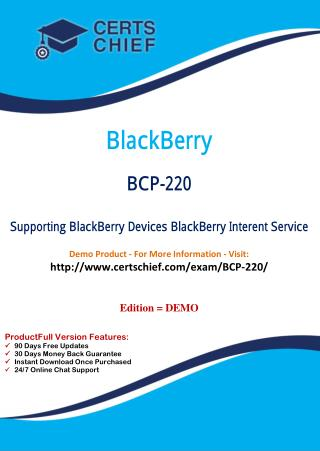 BCP-220 Exam Answers