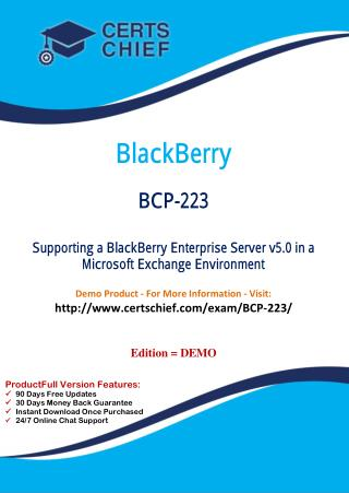 BCP-223 Exam Answers