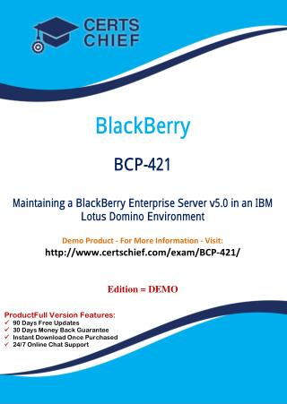 BCP-421 Test Questions and Answers