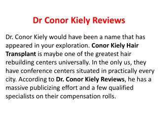 Dr Conor kiely Reviews,Conor kiely Hairtransplant,Conor kiely,Dr Conor Kiely
